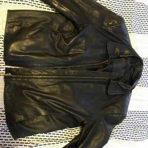 Jackets & Blazers - MODENA BLACK LEATHER JACKET